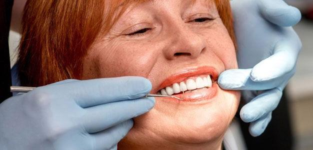 woman getting restorative dentistry treatment